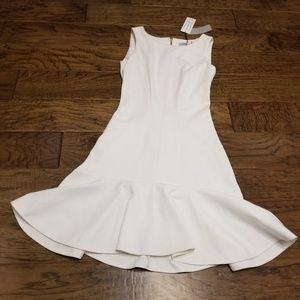 Closet London white fit-n-flare dress NWT